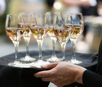 Wine passed at a gala