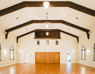 event space at Fremont Abbey