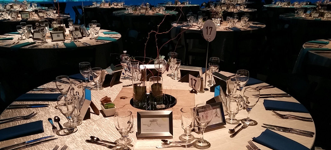 Fundraiser event room set up