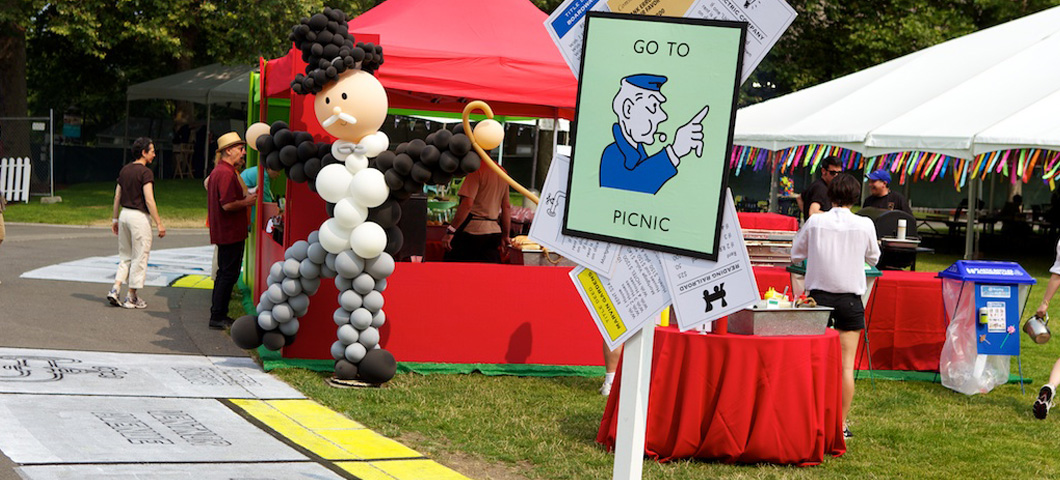 Monopoly themed outdoor event