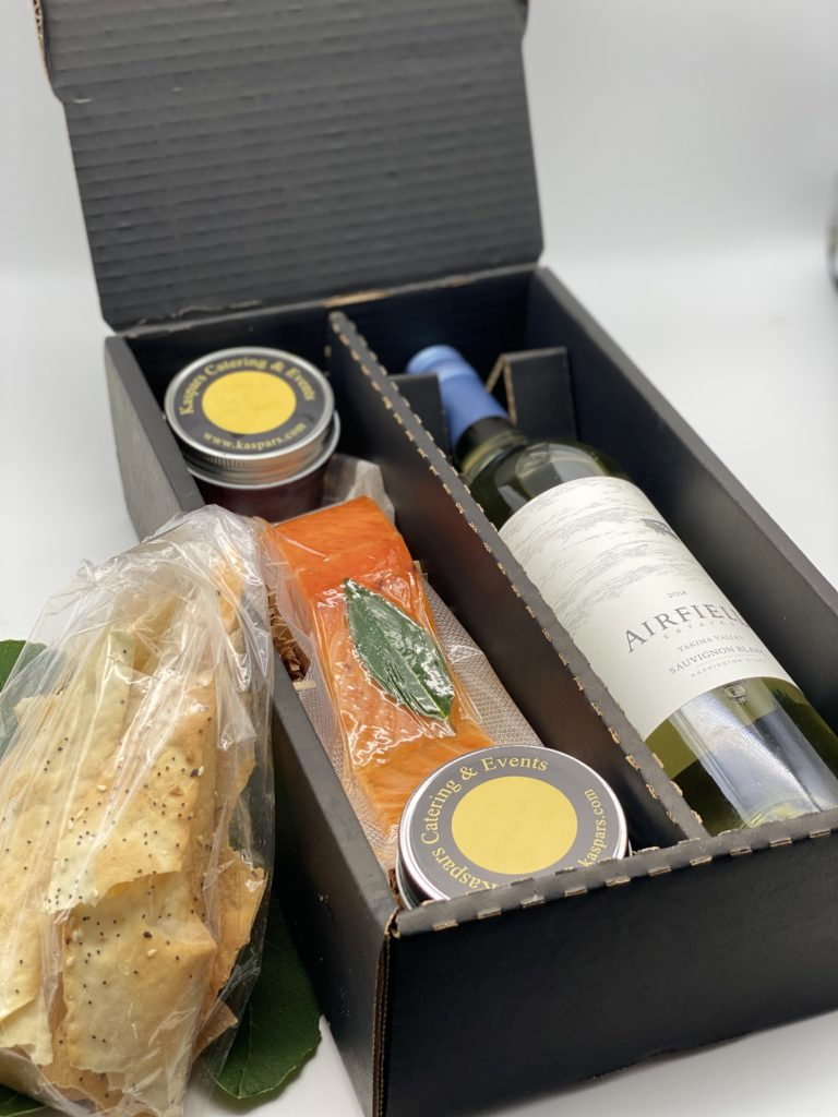 House-smoked Salmon & Wine Boxed Meal